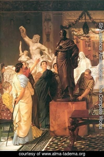 Sir Lawrence Alma-Tadema - A Sculpture Gallery 1867
