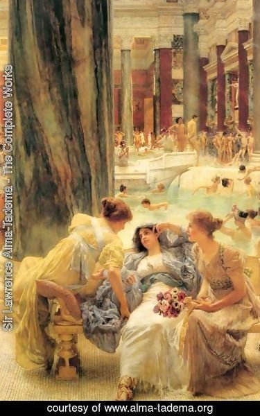 Sir Lawrence Alma-Tadema - The Baths Of Caracalla 1899