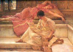 Sir Lawrence Alma-Tadema - The Favourite Poet 1888