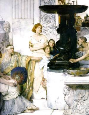 Sir Lawrence Alma-Tadema - The Sculpture Gallery   Detail