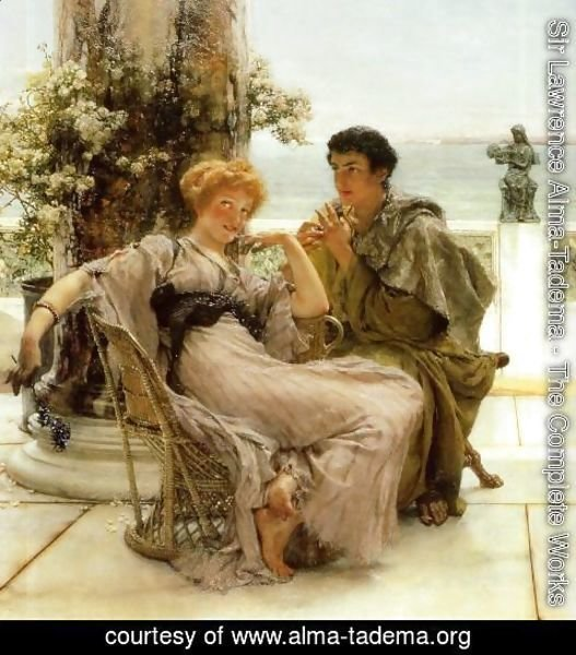 Sir Lawrence Alma-Tadema - Courtship   The Proposal