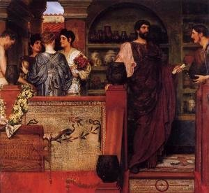 Sir Lawrence Alma-Tadema - Hadrian Visiting A Romano British Pottery