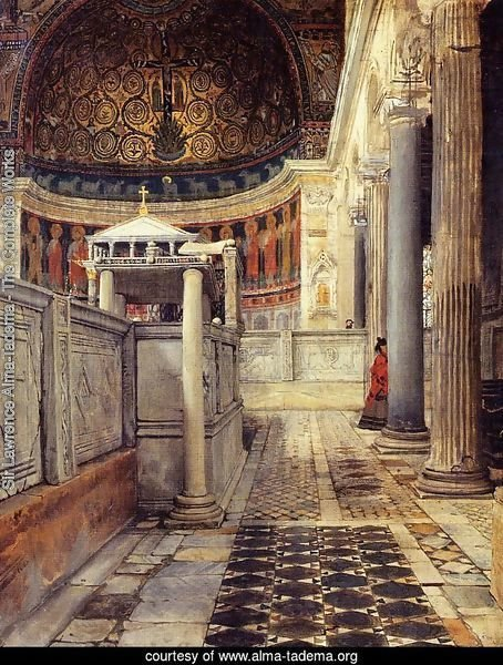 Interior Of The Church Of San Clemente Rome
