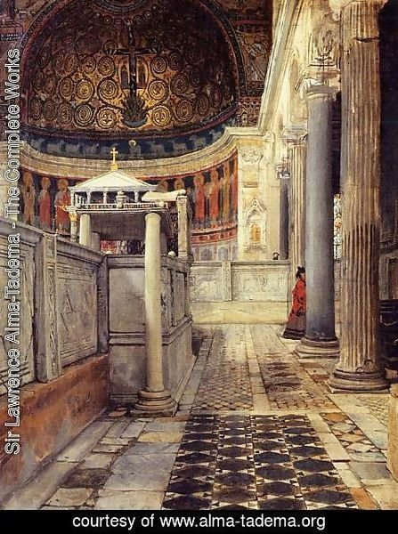 Sir Lawrence Alma-Tadema - Interior Of The Church Of San Clemente Rome