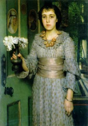 Sir Lawrence Alma-Tadema - Portrait Of Anna Alma Tadema