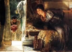 Sir Lawrence Alma-Tadema - Welcome Footsteps 1883