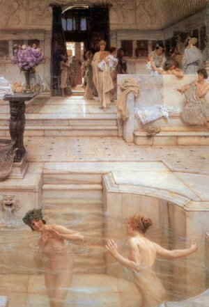 Sir Lawrence Alma-Tadema - A Favorite Custom, 1909