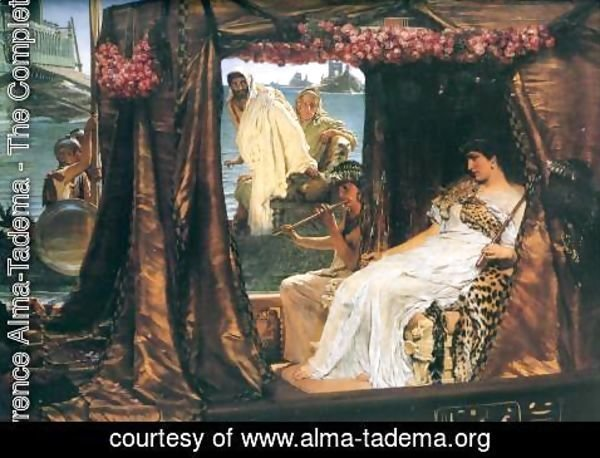 Sir Lawrence Alma-Tadema - Antony and Cleopatra, 1883