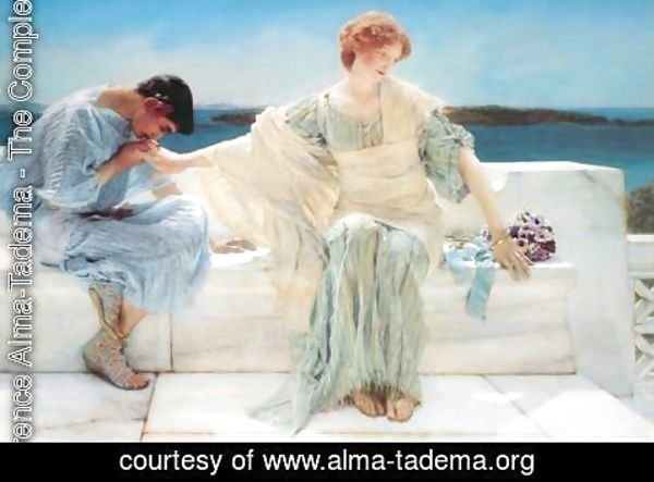 Sir Lawrence Alma-Tadema - Ask Me No More, 1906