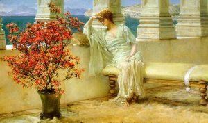 Sir Lawrence Alma-Tadema - Her Eyes are with Her Thoughts, 1897