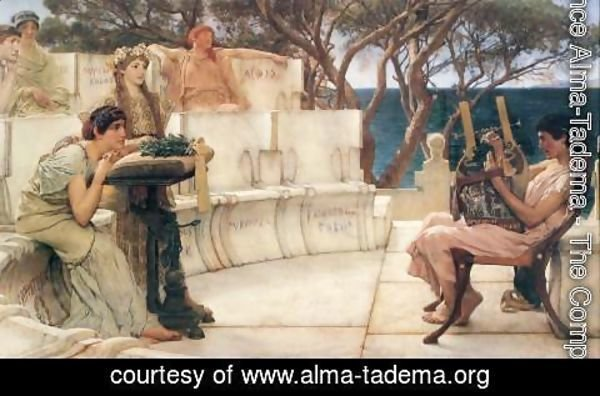 Sir Lawrence Alma-Tadema - Sappho And Alcaeus 1881