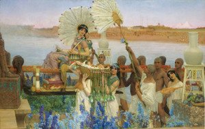 Sir Lawrence Alma-Tadema - The Finding of Moses, 1904